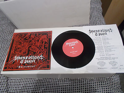 "UNCREATIONS DAWN Uncelestial 7"" EP  Antaeus,Baptism,Mutiilation, Moonblood"
