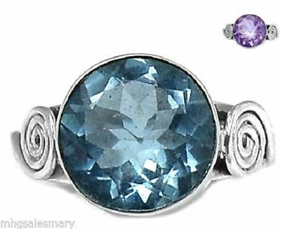 Colorchange Alexandrite (Lab.) 925 Sterling Silver Ring Jewelry s.8.5