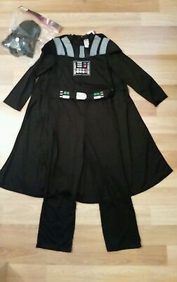 Boys Star Wars Darth Vader Fancy Dress Outfit age 10-11 years  ( new )