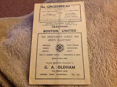 Grantham Town v Boston United Lincolnshire Senior Cup Semi final 7th March 1953