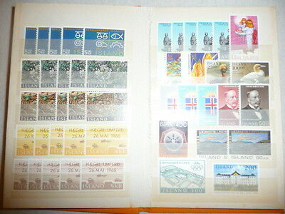 Iceland - Face Value Mint Never Hinged Collection Isk 8000 In Small Stockbook