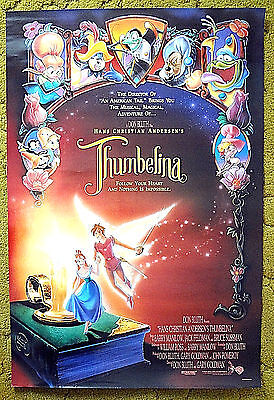 """from the tales of HANS CHRISTIAN ANDERSEN is -- """"THUMBELINA"""" / animated poster"""