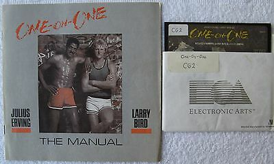 Julius Erving & Larry Bird One-on-One Disk & Manual for Commodore 64