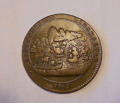 gibraltar token - medal of BLOCKADE OF GIBRALTAR & THE LOSS OF HMS ROYAL GEORGE
