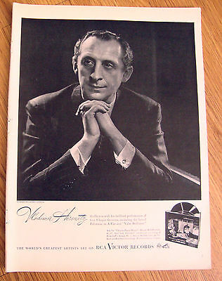 1946 RCA Victor Records Ad Vladimir Horowitz For Chopin Favorites