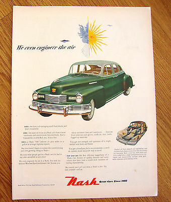 1948 Nash 600 Ad  We even Engineer the Air