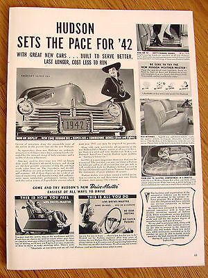 1942 Hudson Six Super Six Commodore Series Sets the Pace for '42