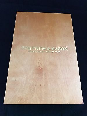 Genuine Fortnum And Mason Polished Wood Wine Holder Gift Box Collectable