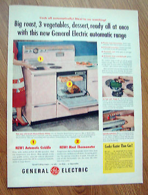 1956 GE General Electric Automatic Range Ad