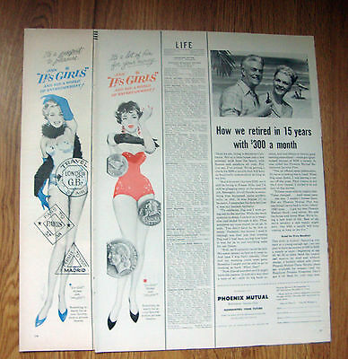 1957 Movie Ad Les Girls  Lot of 2 Ads
