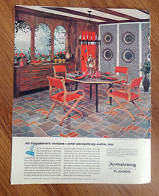 1958 Armstrong's Embossed Inlaid Linoleum Ad