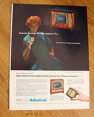 1959  TV Television Ad Admiral Wilshire CHS21H77