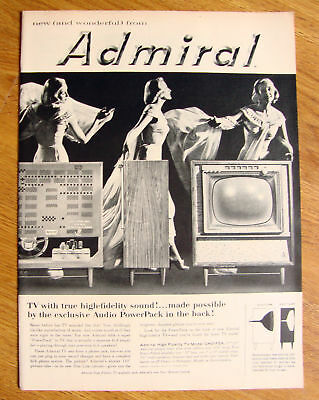 1957 Admiral TV Television Ad Exclusive Audio PowerPack