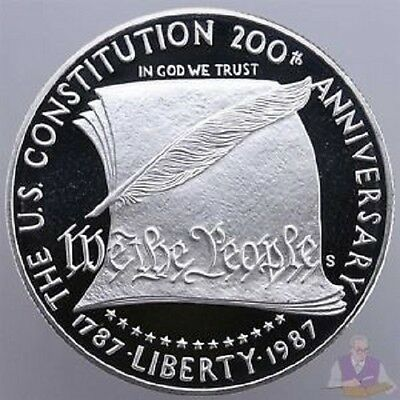 1987-S US Constitution Commemorative Proof Silver Dollar w/COA & OGP