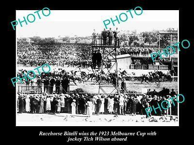 Old Historic Horse Racing Photo Of Bitalli Winning The 1923 Melbourne Cup