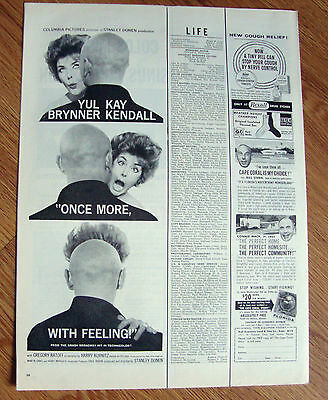 1960 Movie Ad Once More with Feeling Brynner & Kendall