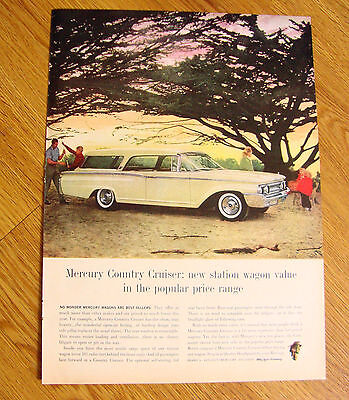 1960 Mercury Country Cruiser Station Wagon Ad