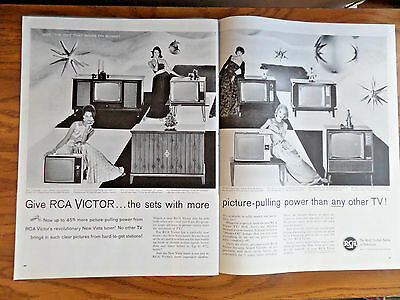 1960 RCA Victor TV Television Ad   Shows 8 Models