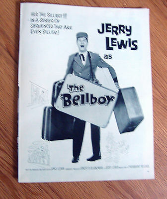1960 Movie Ad Jerry Lewis as THE BELLBOY