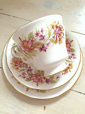 Colclough Bone China Wayside Floral Trio TeaCup Saucer & Side Plate
