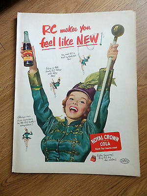 1952 RC Royal Crown Cola Ad  Lady Marching Band Majorette