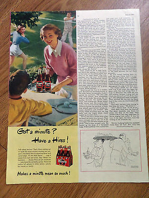 1949 Hires Root Beer Ad  Playing a Game of Badminton