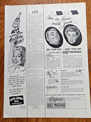 1952 RC Royal Crown Cola Ad Feel Like *ew