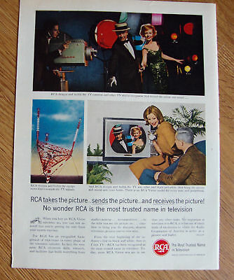 1961 RCA TV Ad Takes Sends Receives Pictures Movie Star