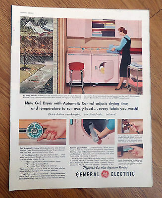 1955 GE General Electric Dryer with Automatic Control Ad