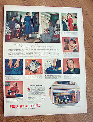 1948 Singer Sewing Centers Machine Ad