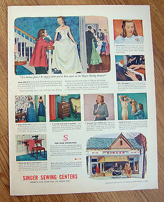 1946 Singer Sewing Centers Machine Ad