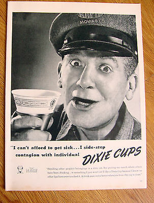 1948 Dixie Cup Ad  Moving Company Guy