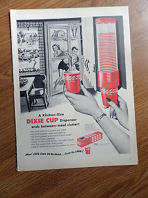 1954 Dixie Cup Ad   Children Swimming Theme