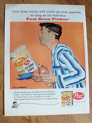 1958 Post Cereal Ad Sargent Art