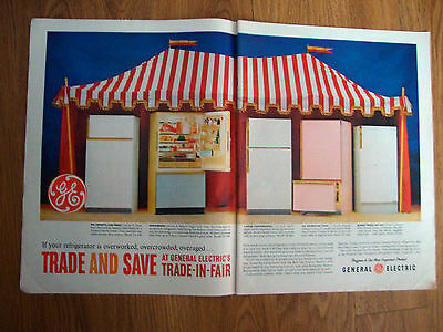 1961 GE General  Electric Refrigerator Appliance Ad Trade In Fair