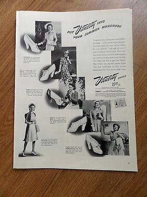 1941 Vitality Shoes Ad Vitality into Your Summer Wardrobe Fashions