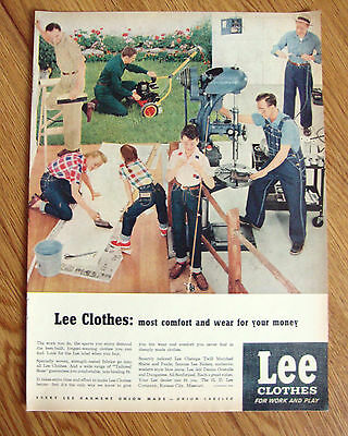 1954 Lee Work & Play Clothes Ad