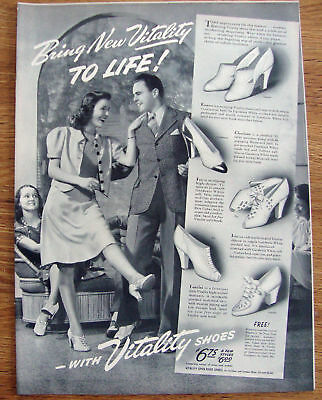 1940 Vitality Shoes Ad  Bring New Vitality to Life!