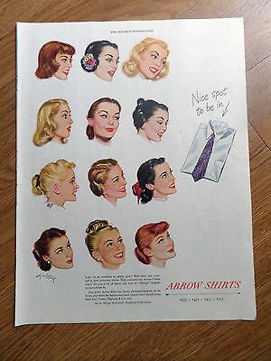 1948 Arrow Shirts Ad Like to Be Admired by Pretty Girls?