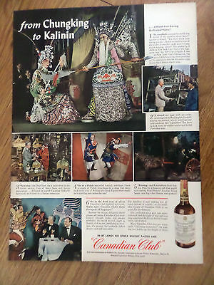 1943 Canadian Club Whiskey Ad New York City's Chinatown