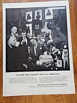 1952 Hiram Walker Imperial Whiskey Ad  Christmas