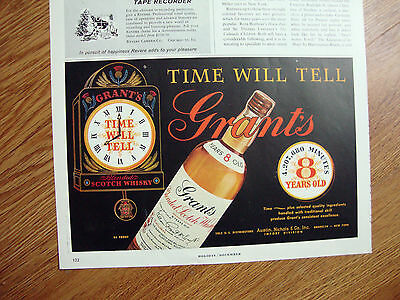 1954 Grant's Scotch Whiskey Whisky Ad