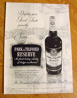 1951 Park Tilford Private Stock Whiskey Ad
