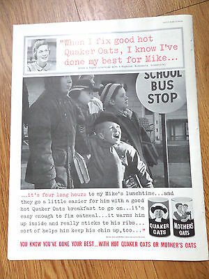 1961 Quaker Oats Cereal Ad Hopkins Minnesota Housewife