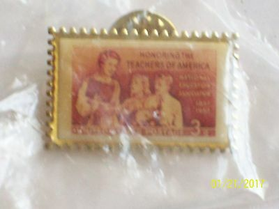 Honoring Teachers of American 3 THREE CENT STAMP PIN  USPS