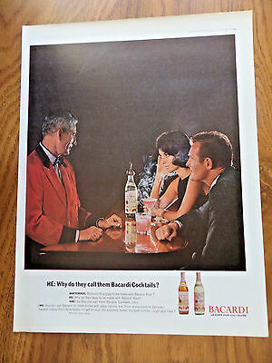 1962 Bacardi Cocktails Ad