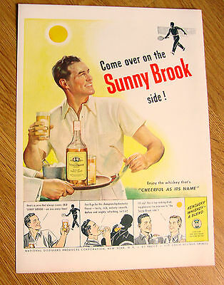 1948 Sunny Brook Whiskey Ad  Tennis Theme