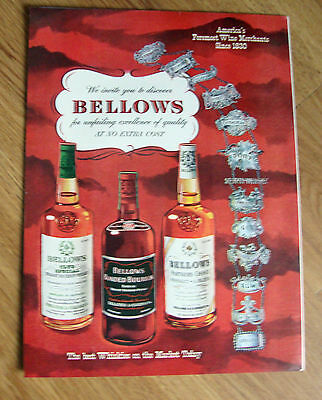 1952 Bellows & Company Bourbon Whiskey Ad