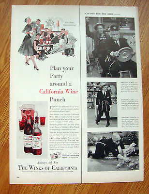1955 Ad      Plan your Party around a California Wine Punch