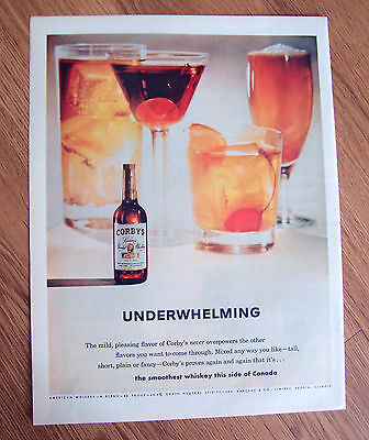 1961 Corby's Whiskey Ad Underwhelming